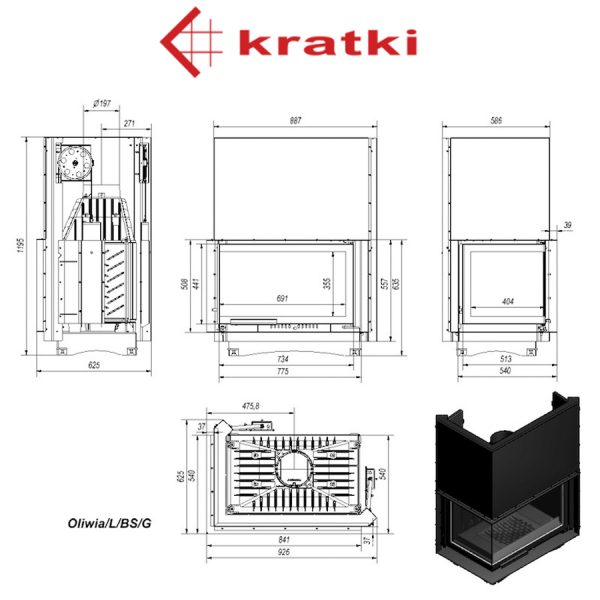 KRATKI-Fireplaces-Oliwia-L-BS-G-18-KW