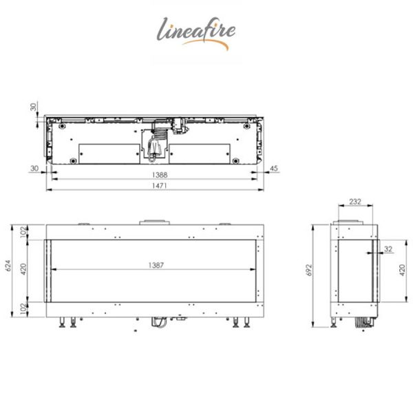 LINEAFIRE-Fireplaces-Corner-150-Left