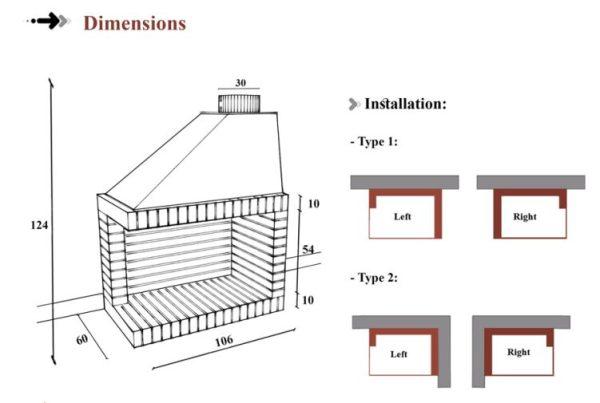 open corner -size